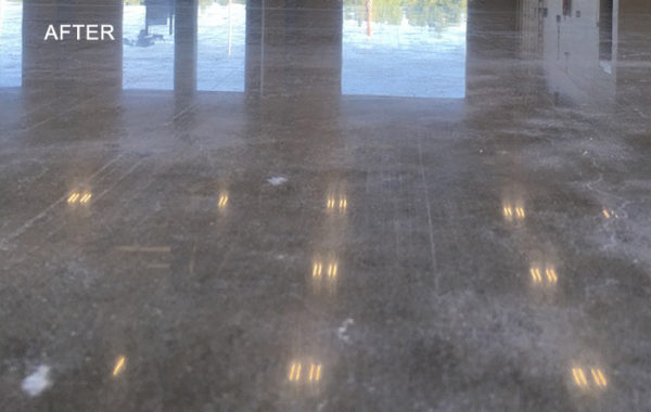 Facility's Worn Concrete Polished